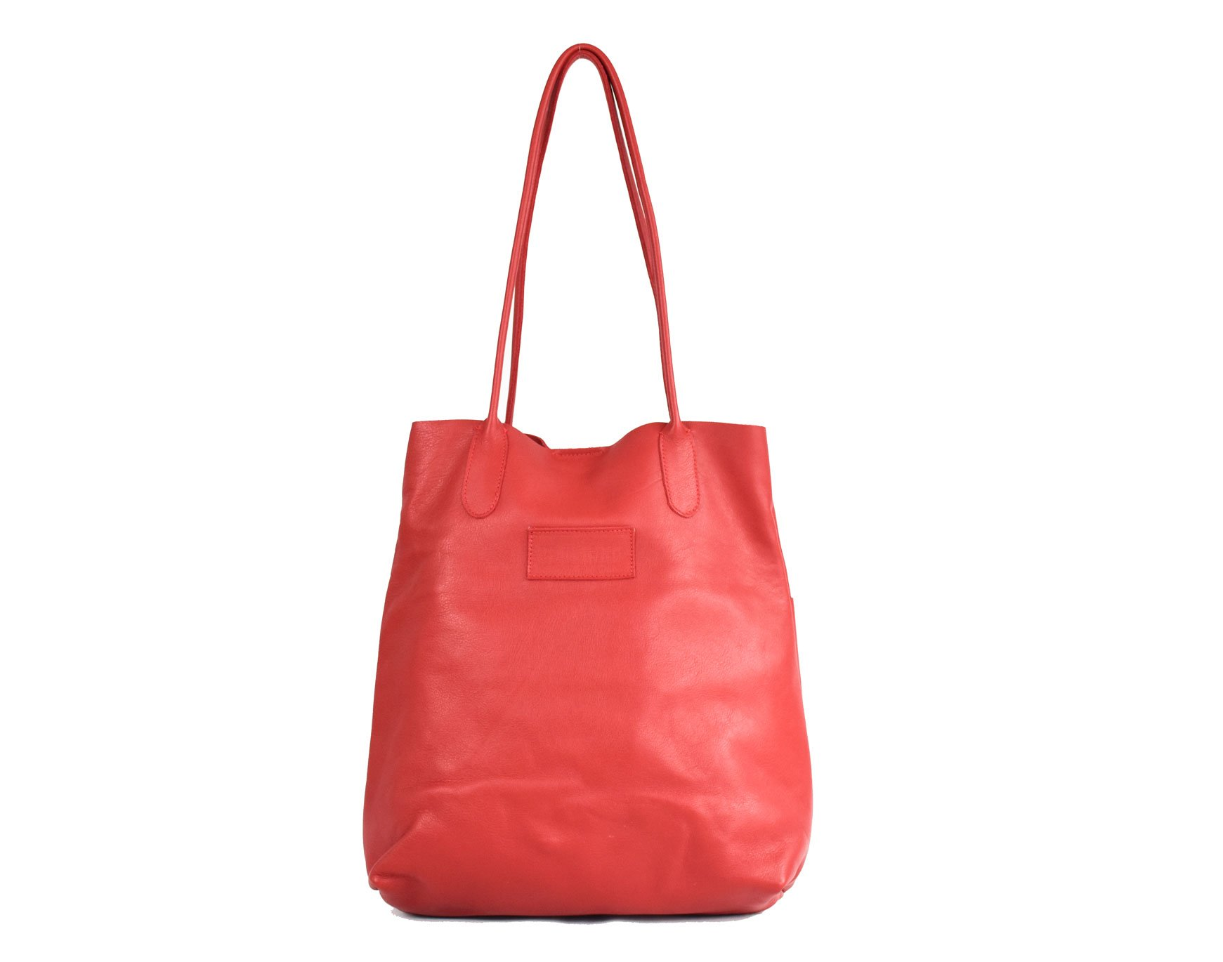 chaco rojo tottebag ligero handmade barcelona leather piel real