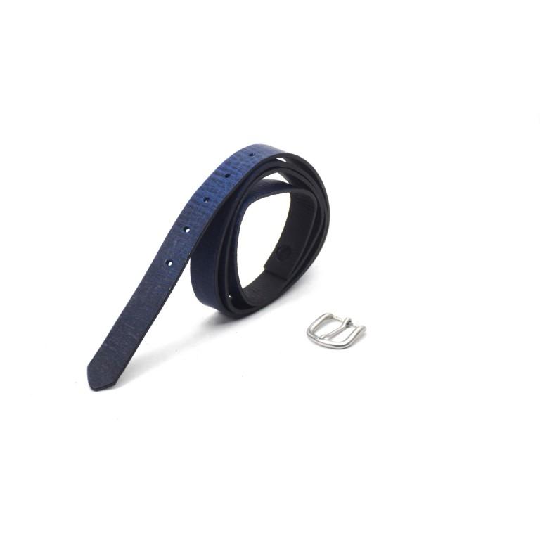 cinturón de piel negro 2.5cm hebilla níquel mate handmade in barcelona unisex cuero vacuno