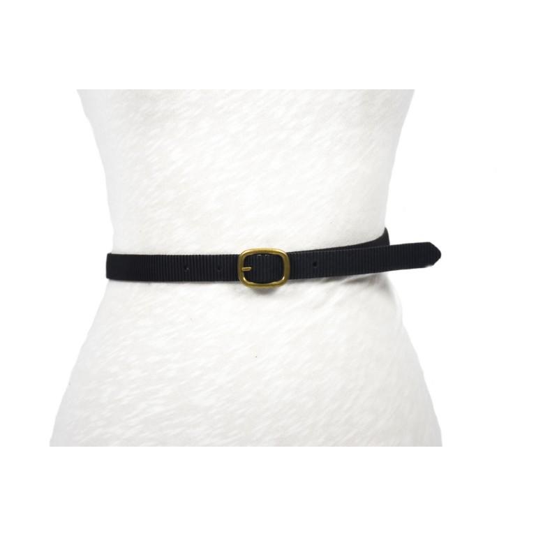 cinturón de piel cuero vegetal negro grabado rayado hebilla doble paso oro viejo