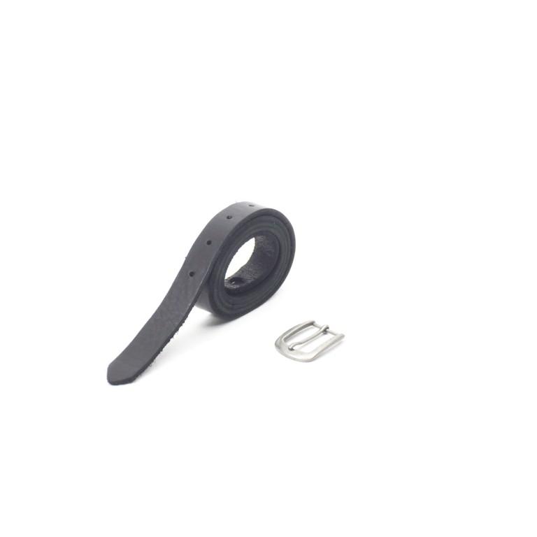 cinto piel cuero negro rústico unisex barcelona handmade leather belt