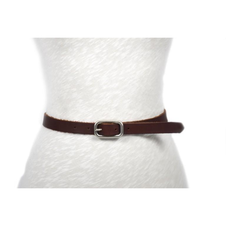 cinturón marrón oscuro piel cuero leather real