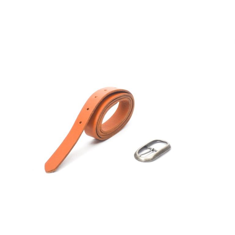 cinturón de piel camel hebilla níquel