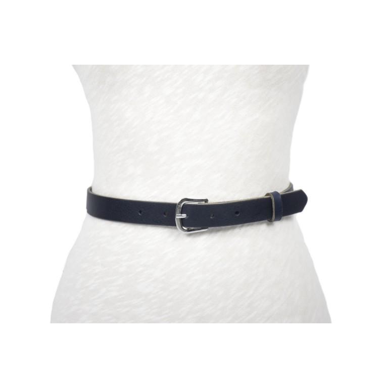cinturón de piel azul unisex hebilla níquel handmade barcelona