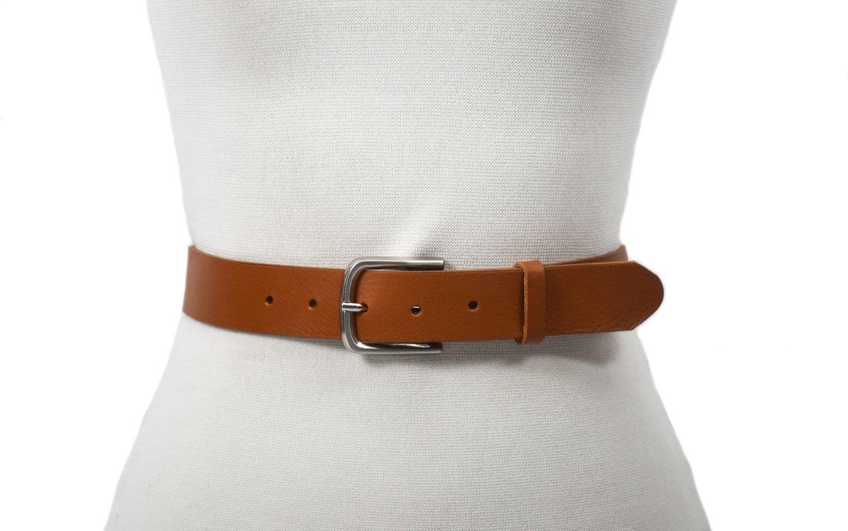 cinturón de piel marrón claro camel barcelona piel cuero
