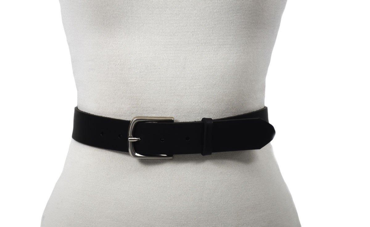 cinturón de color negro unisex hebilla níquel ancho 3.5cm barcelona