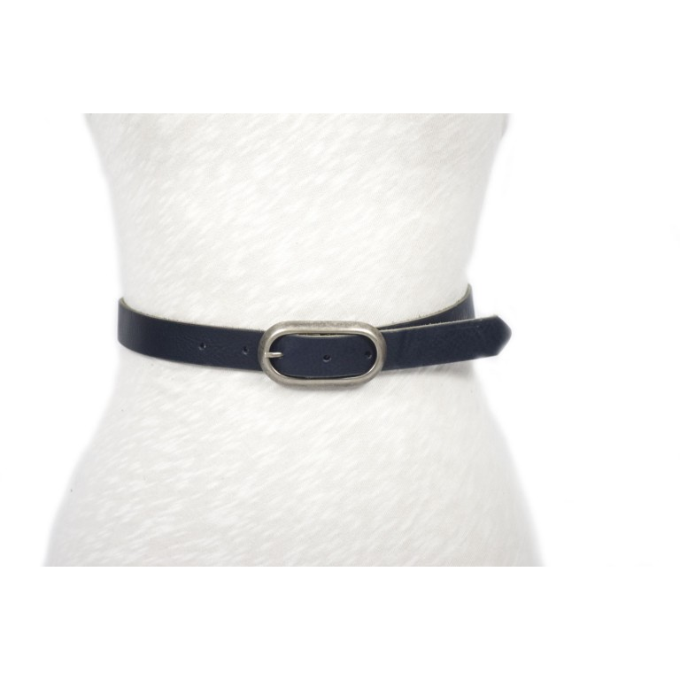 cinturón de piel negro 2.5cm handmade in barcelona unisex cuero vacuno