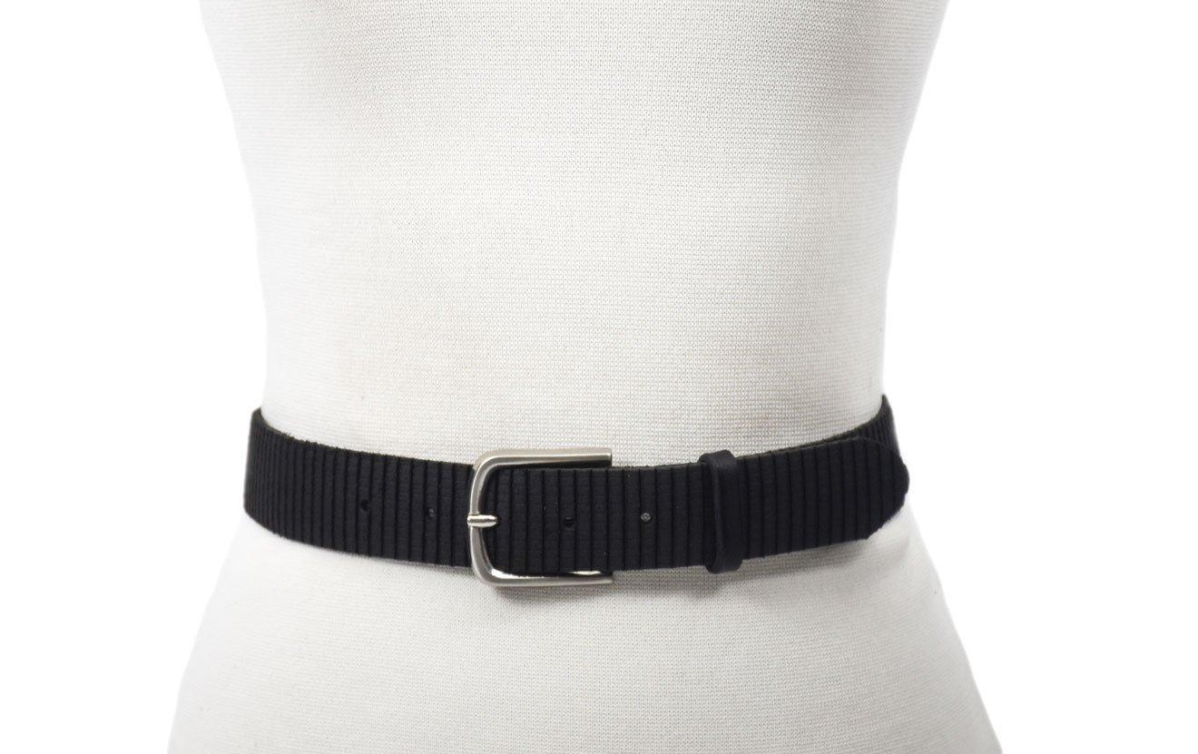 cinturón rallado grabado negro black unisex ancho 3.5cm hebilla níquel