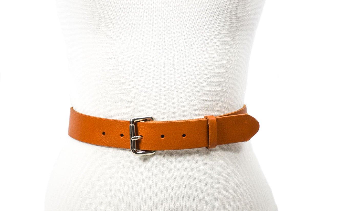 cinturón 3.5cm camel hebilla níquel belt handmade barcelona