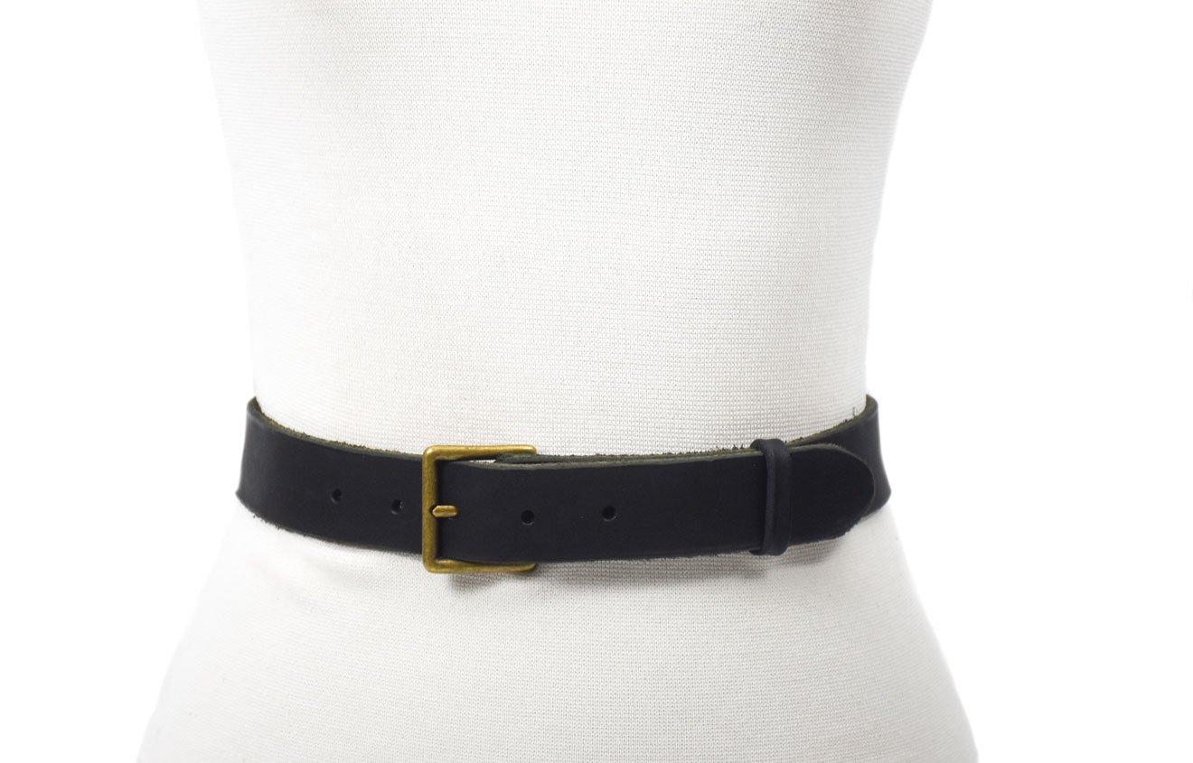 cinturón de cuero vacuno curtimiento vegetal unisex tira envejecida