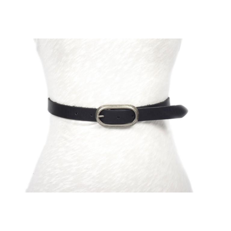 cinturón negro p20 hebilla doble paso níquel mate unisex hombre mujer