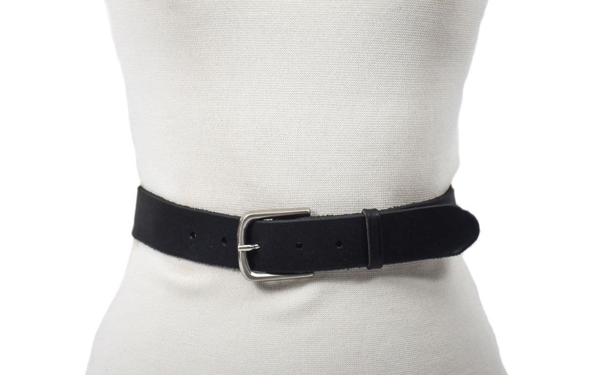 cinturón de cuero vacuno vegetal unisex hebilla níquel