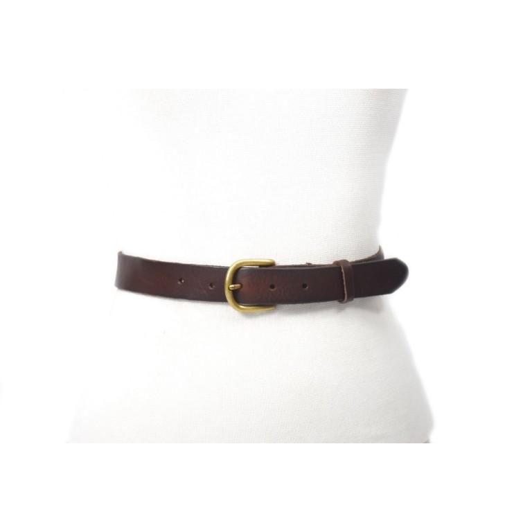 cinturon de hombre cuero marron 3cm