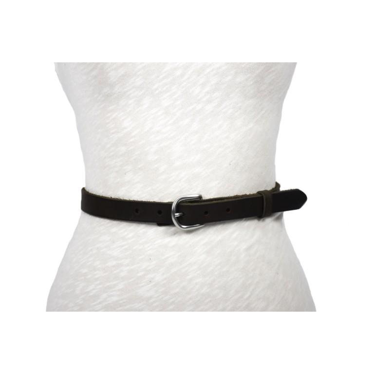 cinturón de piel negra 3cm hebilla níquel mate