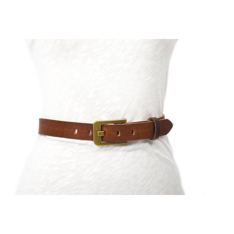 cinturón de piel marrón 3cm handmade in barcelona unisex cuero vacuno