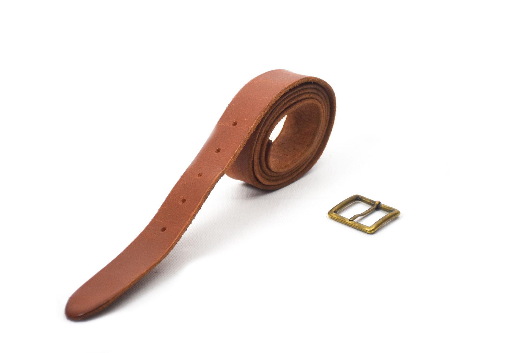 cinturón de piel marrón acabado rústico con hebilla oro viejo