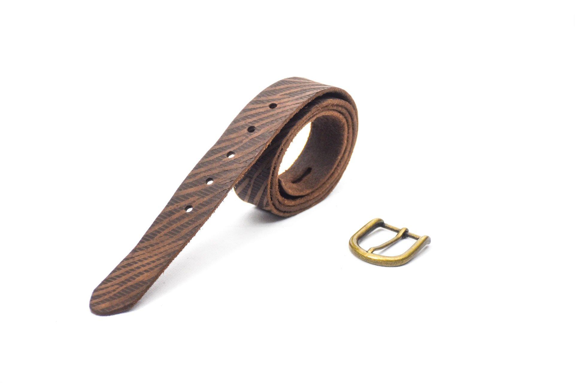 cinturón de piel envejecida dark brown hebilla oro viejo 3.5cm