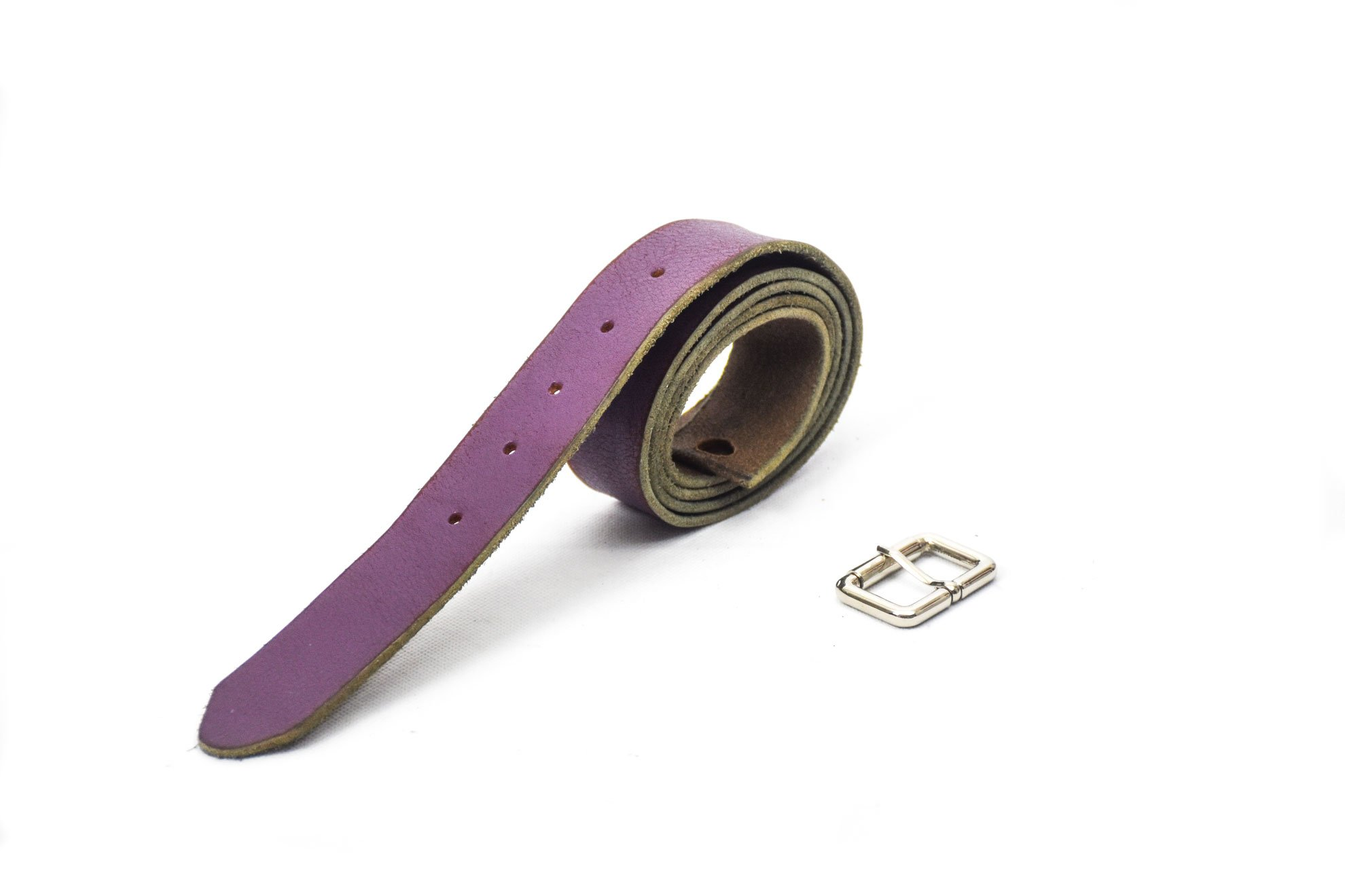 cinturon ancho 3.5cm violeta piel cuero belt unisex