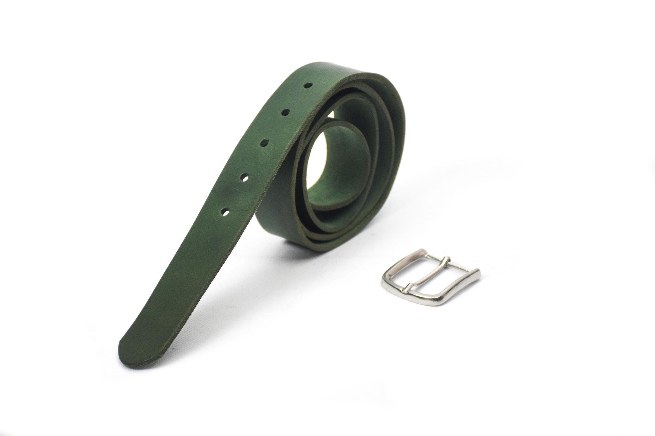 belt green verde unisex barcelona handmade 4cm