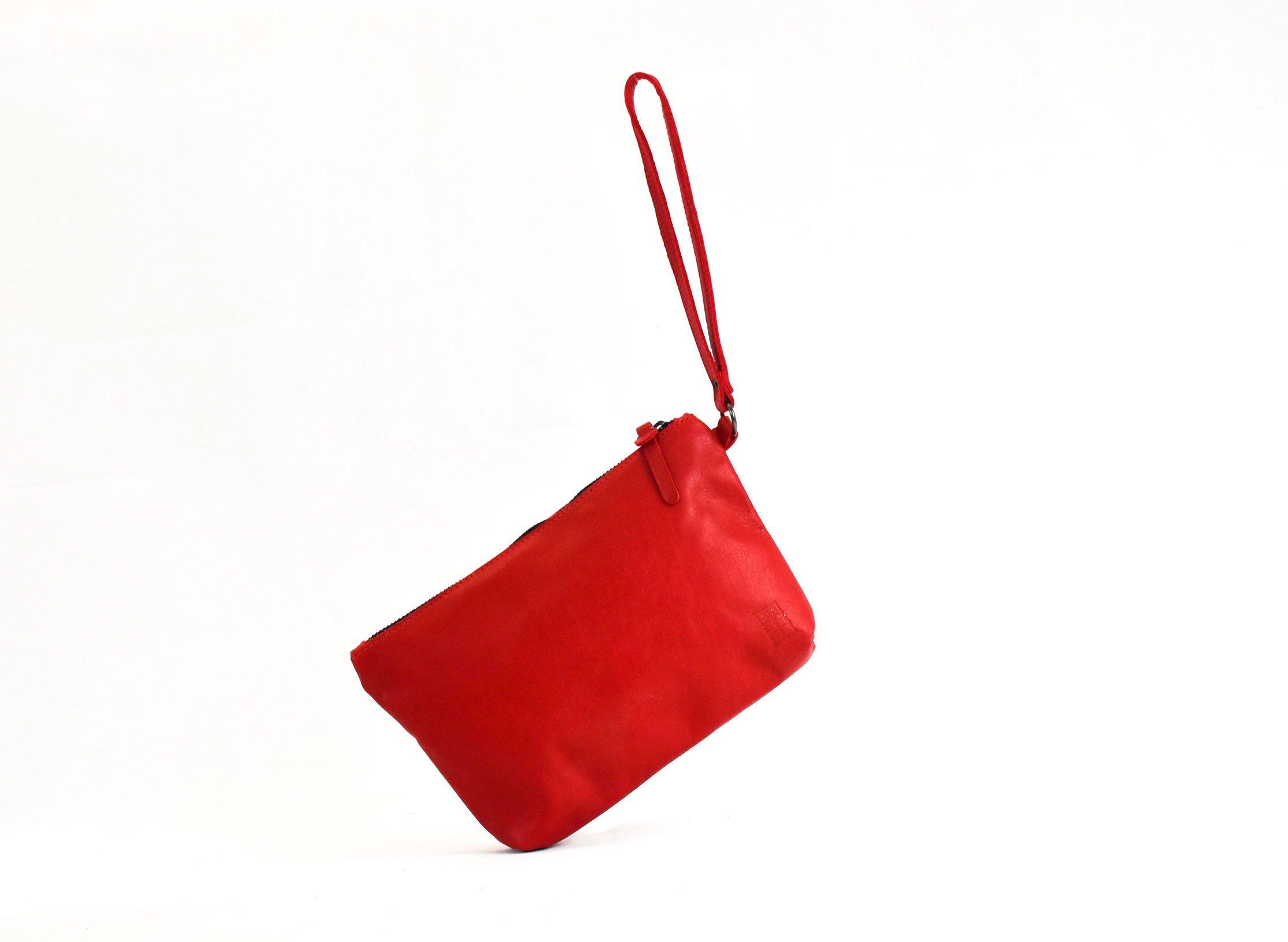 corrientes bolso de mano rojo ligero interior piel handmade barcelona custom casual unisex