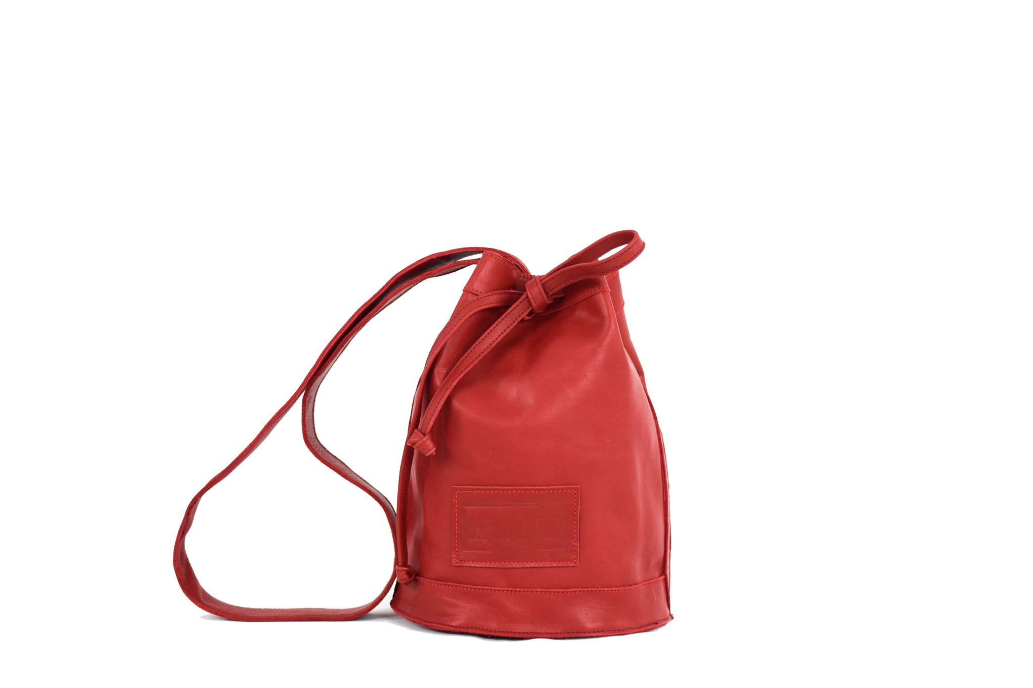 laura bolso rojo outlet bombón handmade barcelona leather