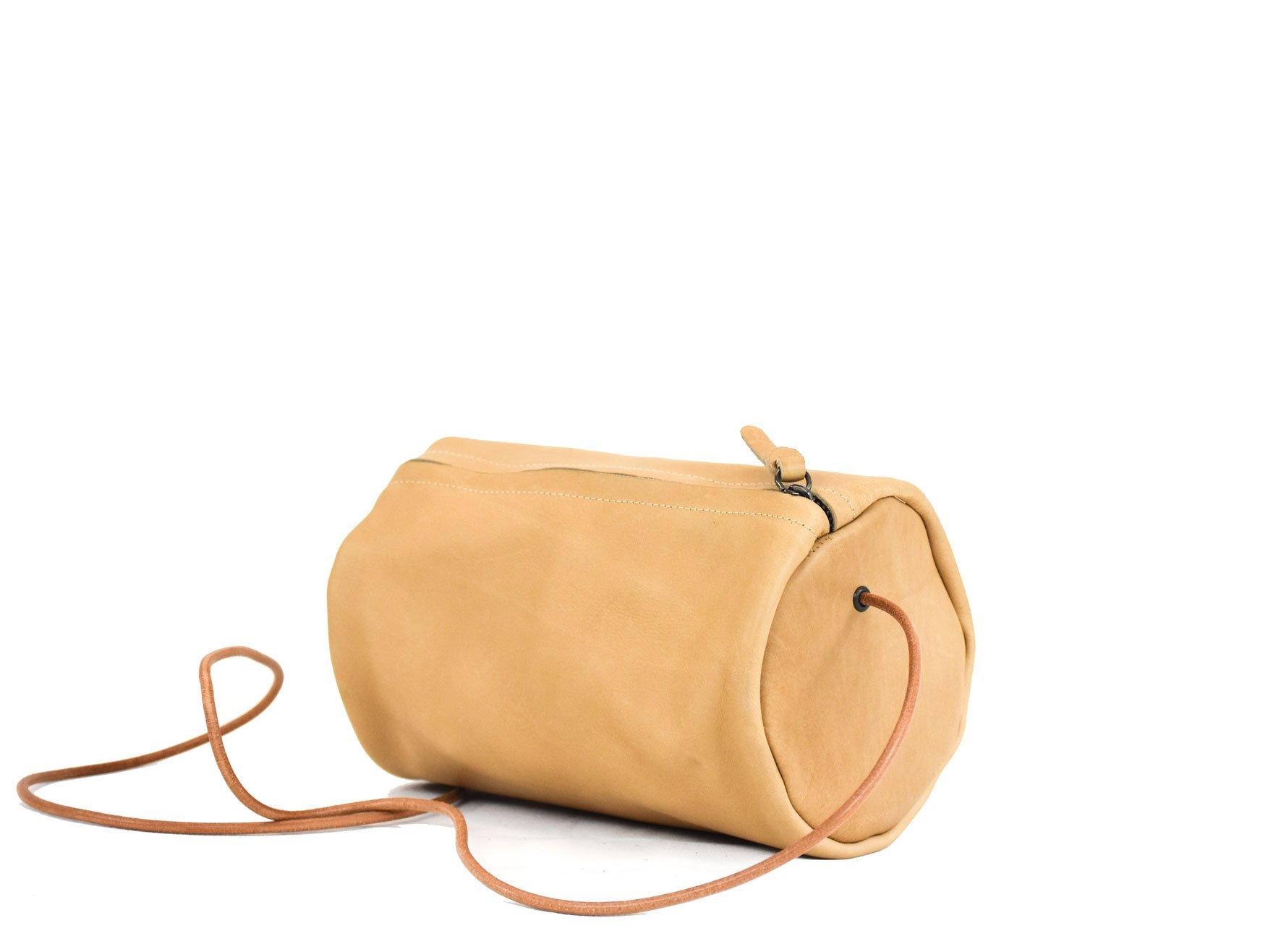 neuken bandolera tubular mujer leather piel real crema